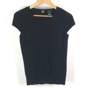 SAKS FIFTH AVENUE Cashmere Cap Sleeve Sweater 1112